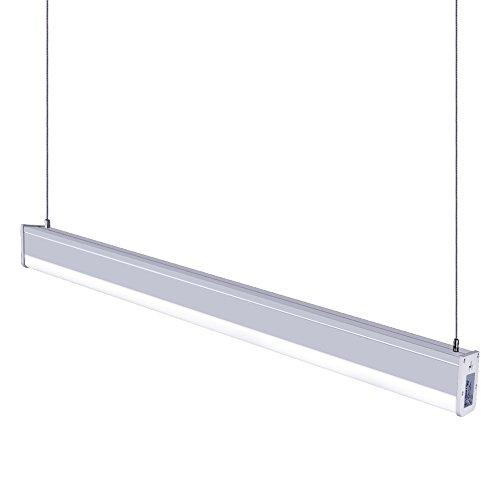KJLARS LED Pendelleuchte 36W Büroleuchte 4000K Deckenleuchte Hängeleuchte Acryl Panellampe für Büro Hängelampe, höhenverstellbar, Pendellänge maximum 150cm, für hängelampe esstisch, Arbeitszimmer, Wohnzimmer