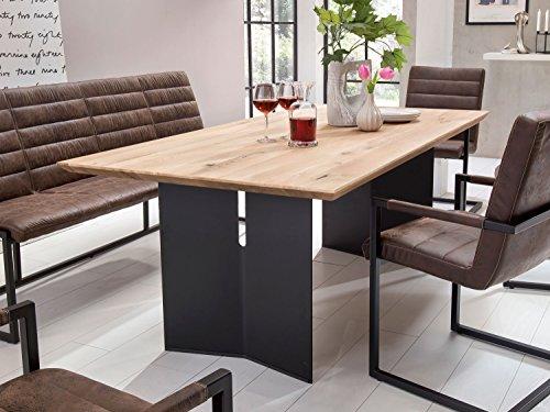 Esstisch Holz Massiv Wildeiche Silas Tisch Wohnzimmer Loungetisch Holztisch Esszimmer