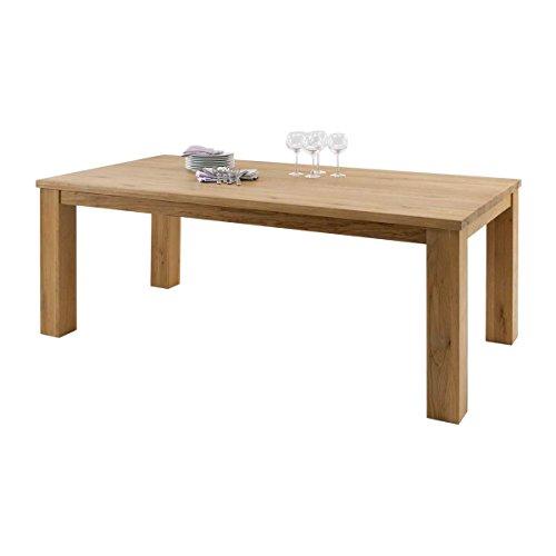 Esstisch Esszimmertisch Arklönd 160x100, Massivholz Holz Wildeiche massiv geölt, Breite 160 cm, Tiefe 100 cm, Höhe 76 cm