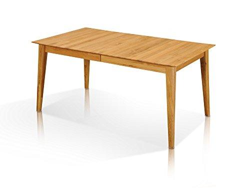 MERLIN Esstisch Wildeiche Holztisch Massivholztisch Esszimmertisch Tisch Vierfuß Holzfuß 160 x 90 cm, 160 x 90 cm