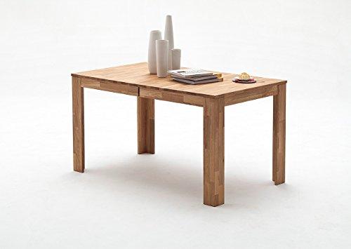 Esstisch, Esszimmertisch, Küchentisch, Tisch, Massivholztisch, ausziehbar, Ausziehtisch, Wildeiche, Eiche, Mittelauszug, rechteckig