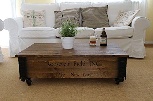 couchtisch truhe holzkiste beistelltisch vintage shabby chic landhaus massivholz nussbaum 1. Black Bedroom Furniture Sets. Home Design Ideas