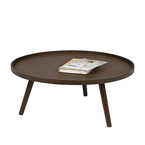 runder couchtisch in nussbaum furniert und lackiert breite. Black Bedroom Furniture Sets. Home Design Ideas