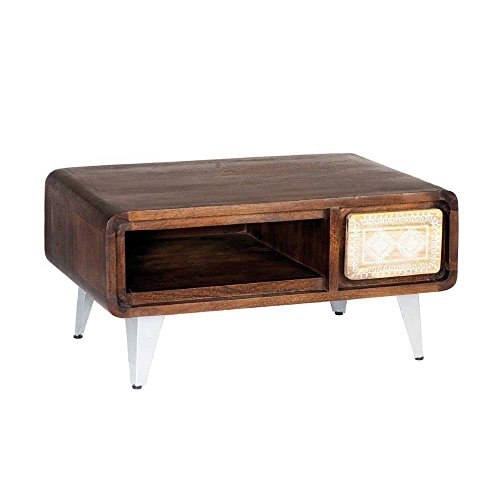 Design Couchtisch in Braun Bunt Retro Pharao24