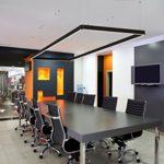KJLARS LED 36W Schwarz Pendelleuchte Büroleuchte Deckenleuchte Hängeleuchte Büro Hängelampe höhenverstellbar Pendellänge maximum 150cm, 1200*30*80mm, für hängeleuchte esstisch Arbeitszimmer Wohnzimmer Pendellampe (BLACK-36W)