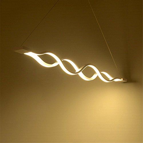 KJLARS LED Pendelleuchte esstisch Hängeleuchte Wohnzimmer Küche LED-Pendellampe Moderne Aluminium Hängelampe höhenverstellbar Pendellänge maximum 120cm (Warmweiß)