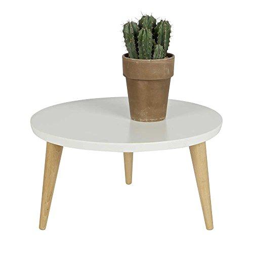 runder couchtisch in wei kiefer eiche massiv breite 60 cm h he 27 cm tiefe 60 cm pharao24. Black Bedroom Furniture Sets. Home Design Ideas