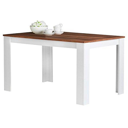 Esstisch Esszimmertisch Küchentisch TIJUANA in Nussbaum / weiß, 120 x 80 cm (B x T)