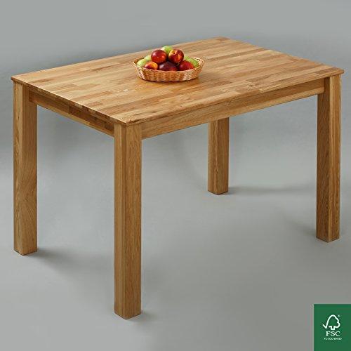 Esstisch Massivholz Eiche 100% FSC Bonn Esszimmertisch Massivholz Tisch (110 x 75 x 75 cm)