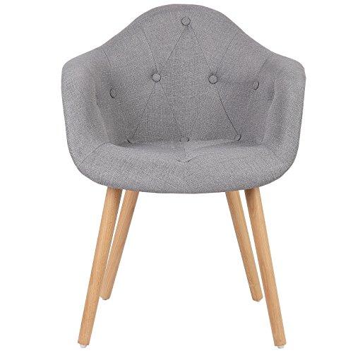 woltu bh55gr 2 esszimmerst hle 2er set esszimmerstuhl mit lehne design stuhl k chenstuhl leinen. Black Bedroom Furniture Sets. Home Design Ideas