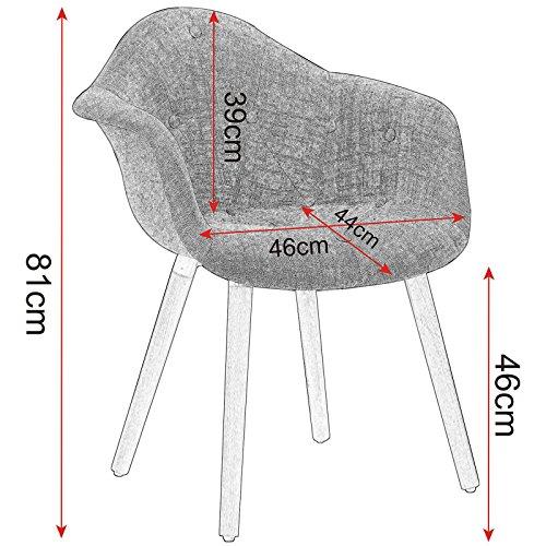 Esszimmerstühle Mit Lehne woltu bh55gr 2 esszimmerstühle 2er set esszimmerstuhl mit lehne design stuhl küchenstuhl leinen