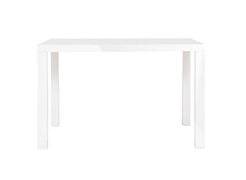 Esstisch - Küchentisch 80-160 cm (4 Größen, 2 Farben) Weiß, Hochglanz