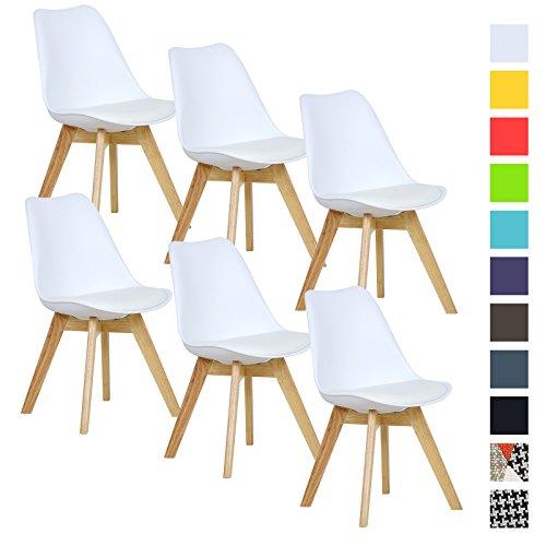 woltu 6er set esszimmerst hle k chenstuhl design stuhl esszimmerstuhl kunstleder holz neu. Black Bedroom Furniture Sets. Home Design Ideas