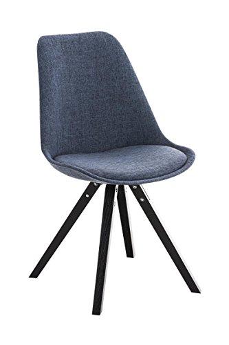 Stuhl Pegleg Stoff Square schwarz blau