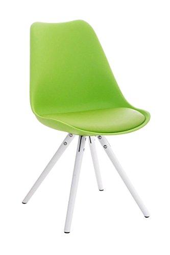 Stuhl Pegleg Rund weiß grün