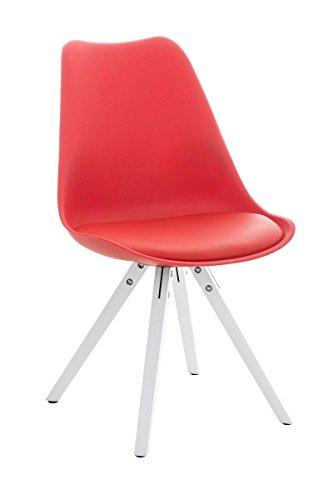 Stuhl Pegleg Square weiß rot