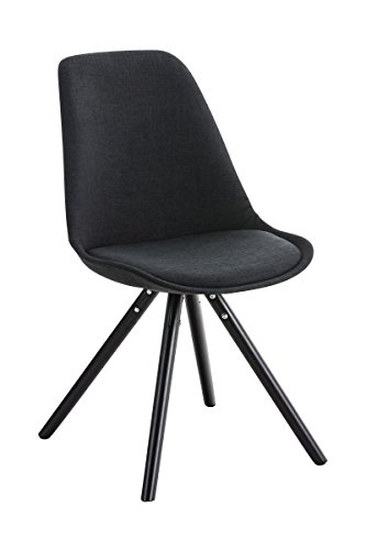 Stuhl Pegleg Stoff Rund schwarz schwarz