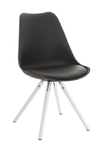 Stuhl Pegleg Rund weiß schwarz