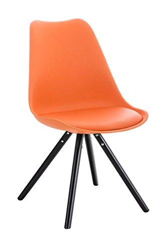 Stuhl Pegleg Rund schwarz orange