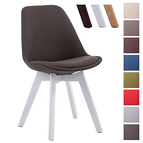 CLP Design Retro Stuhl BORNEO V2 Besucherstuhl Mit Holz