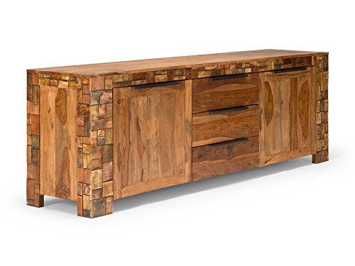 massivum Sideboard Mayari 228x77x50 cm Palisander braun lackiert