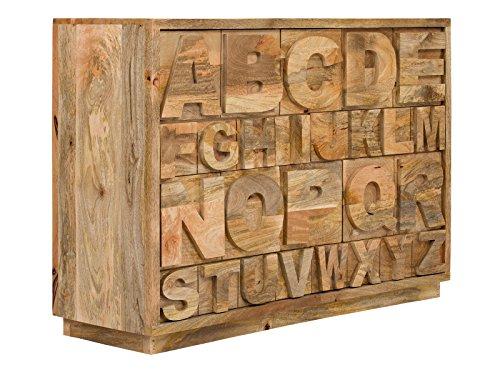 massivum Sideboard JayEdgar 120x85x40 cm Mango braun lackiert