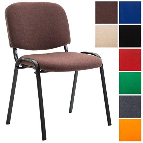 CLP Konferenzstuhl KEN V2 mit Stoffbezug und hochwertiger Sitzpolsterung | Robuster und stapelbarer Besucherstuhl | In verschiedenen Farben erhältlich