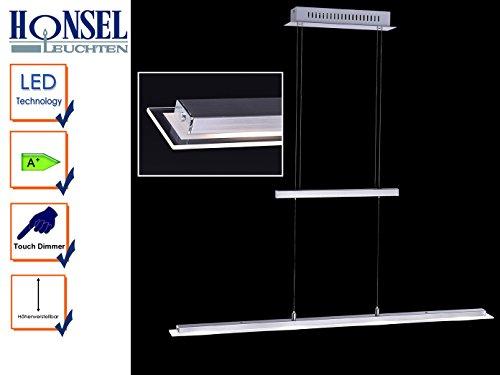 Honsel Pendelleuchte LED 69404 Tenso Pendelleuchten A++ bis A Nickel Matt / Chrom L/B ca. 88/6 cm