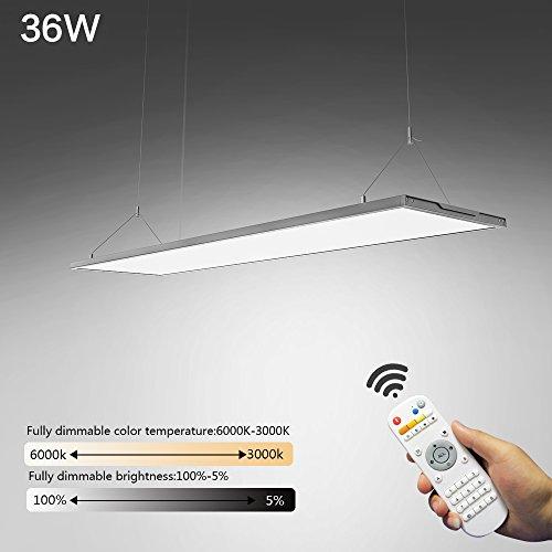 KJLARS LED Pendelleuchte Dimmbar Hoehenverstellbar Hängeleuchte Pendellampe für Büro LED Panel Hängelampe, für esstisch Büroleuchte Schlafzimmerleuchte Wohnzimmerlampe