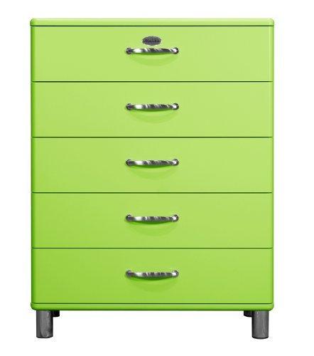 Kommode Malibu 5295 mit 5 Schubladen in grün Sideboard von Tenzo
