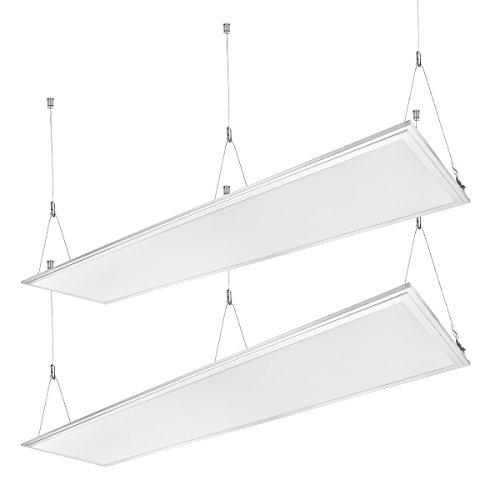 LE 36W LED Panel ersetzt 80W Leuchtstoffröhre, 2700lm LED Panelleuchte mit Befestigungsmaterial und Trafo Panellampen, LED Deckenleuchte, Pendelleuchten [Energieklasse A+]