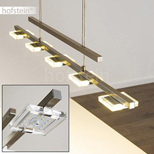 LED-Hängeleuchte AVESTA - Längliche Hängelampe 5-flammig für Esszimmer, Wohnzimmer – 3000 Kelvin – 1600 Lumen – Pendellampe – LED Pendelleuchte Esstisch – Hängelampe LED