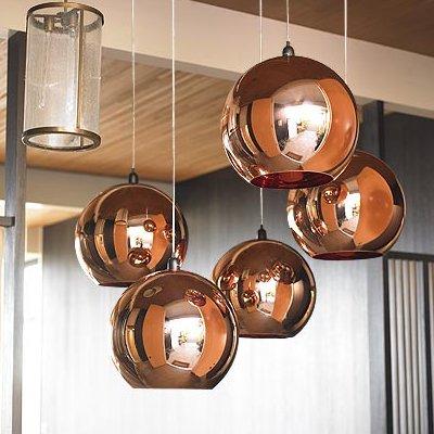 Osradmd Kupfer Pendelleuchte, verzinkt Glas, einem Kopf Pendelleuchte, Designer, die moderne Persönlichkeit, Creative Bar, hängende Lampe