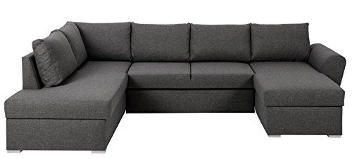 PKline Eckcouch STAN in grau Schlafsofa Couch Wohnlandschaft Ecksofa