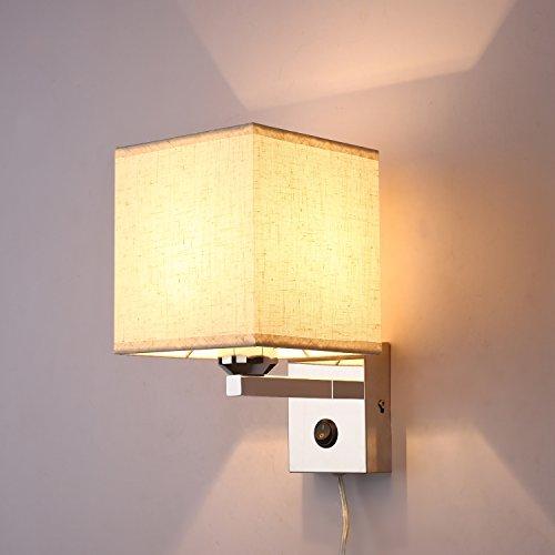 SPARKSOR Leuchten Stoff Trommel Deckenleuchte in Chrom matt, Stoffschirm Grau Pendelleuchte für Wohnzimmer Schlafzimmer Küche Esszimmer Warm Weiss