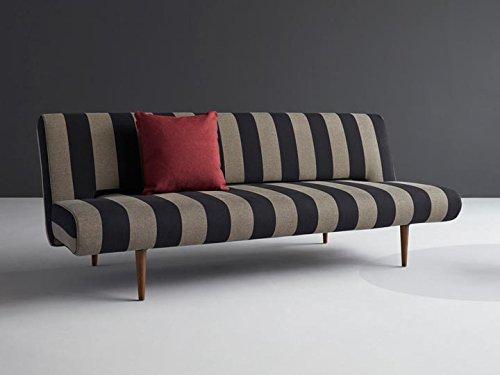 Schlafsofa Unfurl Stripe Sofa Couch Bett Schlafcouch Bettfunktion Klappsofa Schlaffunktion Bettsofa Funktionssofa Sofabett Gästebett Jugendbett 3-Sitzer - Innovation Design