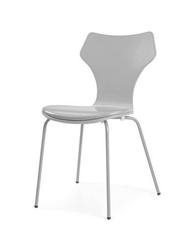 Tenzo 0601-012 Lolly 4er-Set Designer Stühle Holz, grau, 53 x 45 x 85 cm