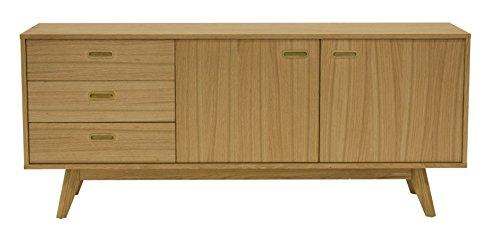 Tenzo 2175-054 BESS - Designer Sideboard, Eiche furniert, 72x170x43 cm (HxBxT)