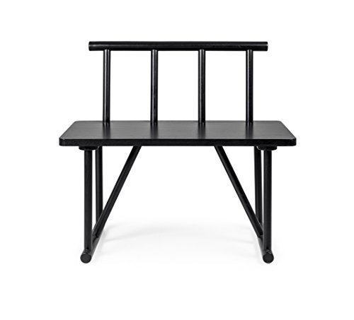 tenzo 4030 924 grain designer sitzbank holz schwarz gebeizt 42 x 84 x 77 cm retro stuhl. Black Bedroom Furniture Sets. Home Design Ideas