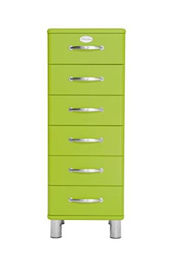 Tenzo 5106-021 Malibu Designer Kommode, MDF lackiert, 111 x 41 x 41 cm, grün