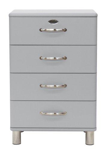Tenzo 5116-007 Malibu - Designer Kommode 92 x 60 x 41 cm, MDF lackiert, alu