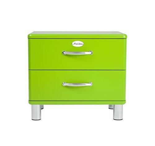 Tenzo 5212-021 Malibu Designer Nachtkommode, MDF lackiert, 54 x 60 x 41 cm, grün