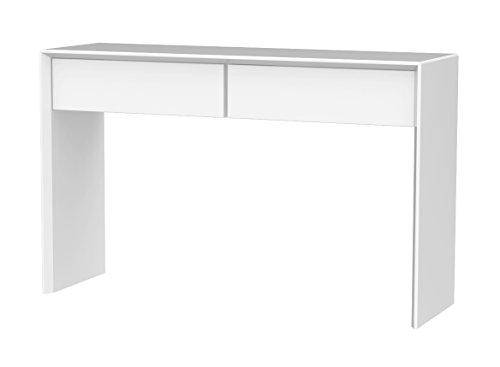 Tenzo 5942-001 Profil Designer Konsole / Beistelltisch, 79 x 120 x 37 cm, weiß