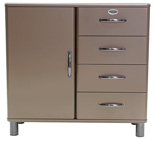 Tenzo Malibu Deluxe Designer Kommode / Sideboard, 92 x 98 x 41 cm, MDF lackiert