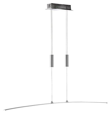 WOFI Pendelleuchte, 1-flammig FREYA 1 x LED / 21 W, 8 x 150 x 120 cm, 3000 k, 1600 lm, Energieeffizenzklasse A höhenverstellbar, chrom 7145.01.01.0000
