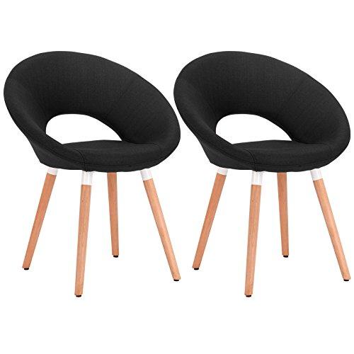 woltu 2er set esszimmerst hle k chenst hle wohnzimmerst hle design stuhl retro stuhl. Black Bedroom Furniture Sets. Home Design Ideas