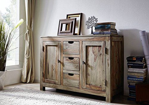 Palisander massiv Holz Sideboard Sheesham Möbel Nature Grey #83