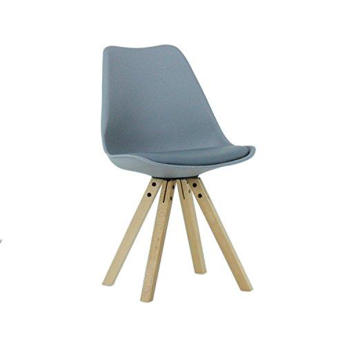 P & N Homewares® Sofia Eiffelturm inspiriert Stuhl aus Kunststoff Retro Weiß Schwarz Grau Rot Gelb Pink Grün Blau Retro grau