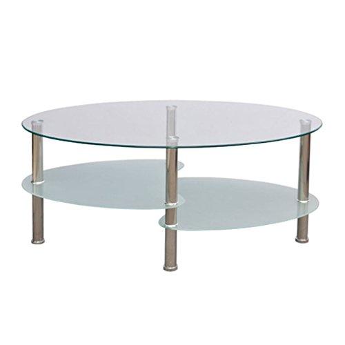 vidaXL Couchtisch Beistelltisch Tisch Wohnzimmertisch Glastisch 3 Platte weiß