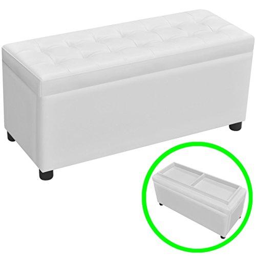vidaXL Ottomane Sitzhocker Sitzwürfel Sitztruhe Bank Couchtisch Aufbewahrungsbox